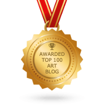 top 100 art blogs medal