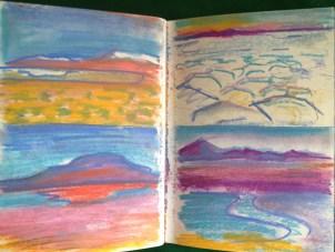 Salar de Uyuni and Atacama desert in Bolivia from my South American Sketchbook
