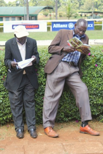 Serious betting going on at Ngong Racecourse in Nairobi