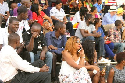 The Grandstand is the place to be seen at Ngong Racecourse in Nairobi