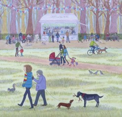 Cafè in the park by Lisa Davies