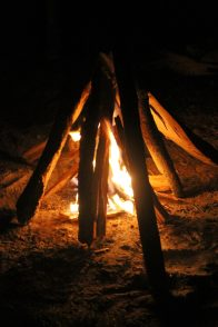 The campfire in its early stages