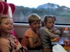 Frida, Leon and Lottie travelling on the Madaraka Express Mombasa-Nairobi Standard Gauge Railway