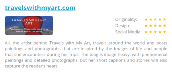 Travels with my Art named as one of the top 25 African Expat Blogs by CouponCode.NG