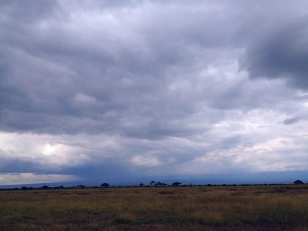 Kilimanjaro behind the clouds - honest