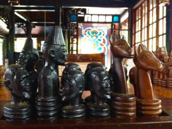 Swahili chess set at the Serena Beach Resort and Spa in Mombasa, Kenya