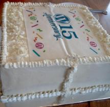 WordPress 15th Anniversary Cake