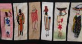 Barocco - The Red Dress Project - designed and embroidered by members of the Kenya Embroiderers' Guild - Part 3
