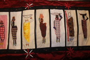 Barocco - The Red Dress Project - designed and embroidered by members of the Kenya Embroiderers' Guild Part 4