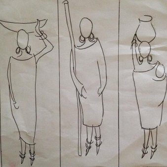 The stencils which were handed out to members of the Kenyan Embroiderer's Guild