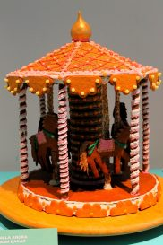 Gingerbread merry-go-round at the ArkDes 2018 Exhibition