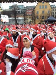 Just about to start the 2018 Santa Fun Run