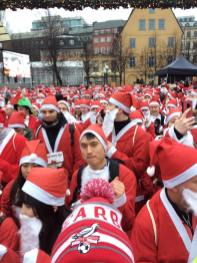 Just about to start the 2018 Santa Fun Run