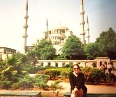 Ali at Hagia Sophia in Istanbul, Turkey