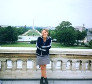 Ali outside the Capitol Building in Washington DC, USA