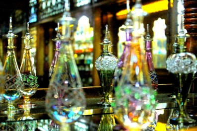 Bottles of Egyptian perfume in a shop Cairo
