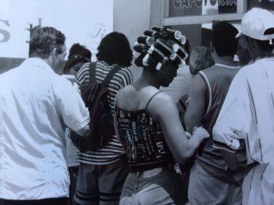 In a queue in Havana, Cuba