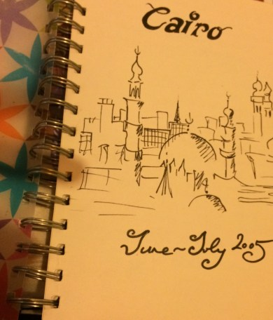 Front page from my Egypt Sketchbook