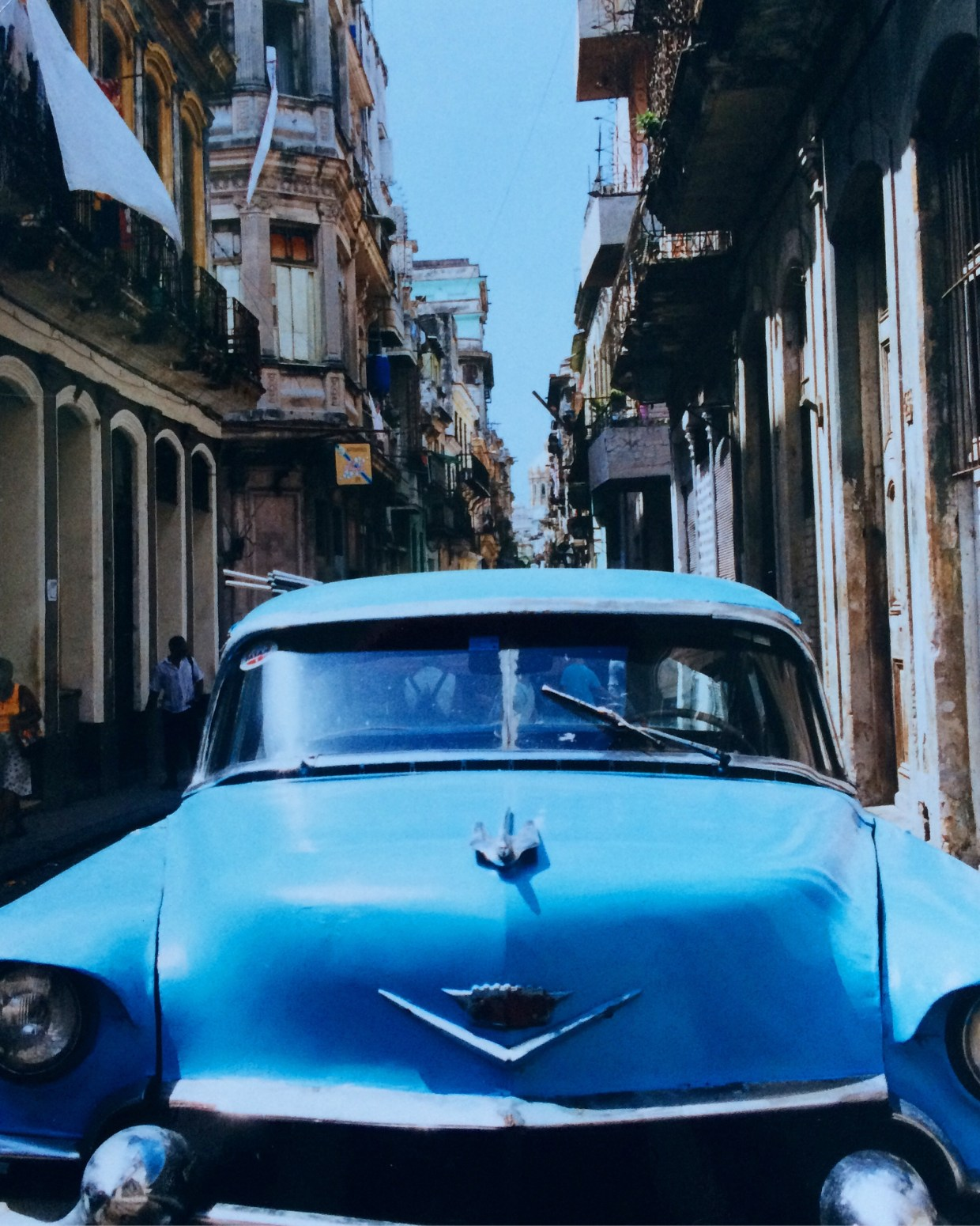 Old car on a street in Havana, Cuba