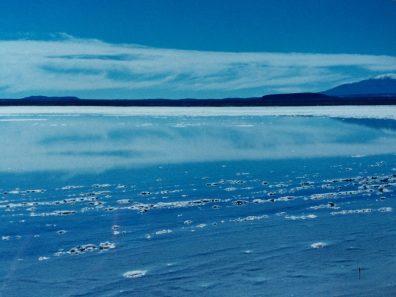 The Salar de Uyuni in Bolivia