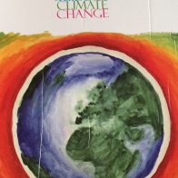 The children's book 'Earth Carer's Guide to Climate Change' which used one of my paintings as an illustration