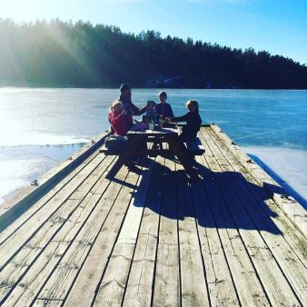 Picnics by the lake in Sweden