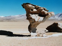 Rock formation in the Atacama desert in Bolivia