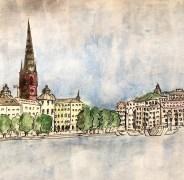 stockholm gamla stan from stadhuset (copy)
