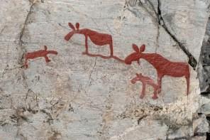 The petroglyphs at Nämforsen in Sweden
