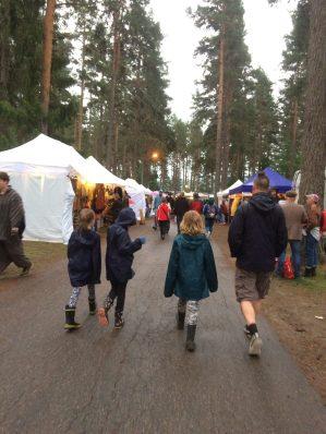 Enjoying the festival even in the rain - at Urkult 2019