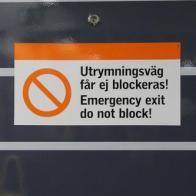 20 Nödutgång Emergency Exit - Stockholm fotomaraton 2019