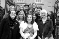 With my best female friends and sisters at my wedding in Halifax, England
