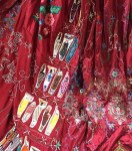 Barocco Red Dress Project - Panel made by the members of the Kenya Embroiderer's Guild in Nairobi