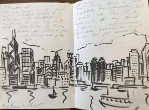 Sketch of Hong Kong from my sketchbook