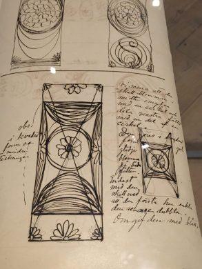 Images from Hilma af Klint's sketchbook