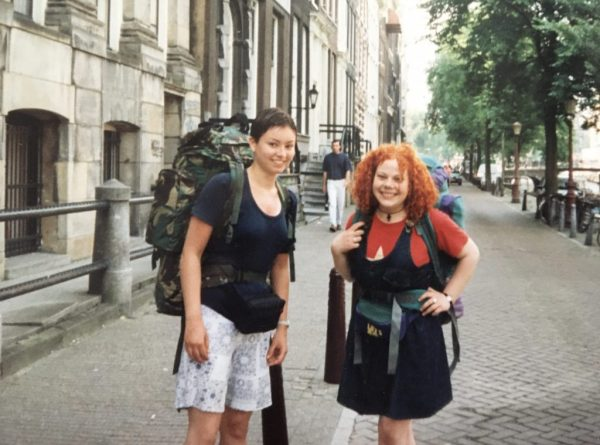 Ali and Natalie, ready to interrail around Europe