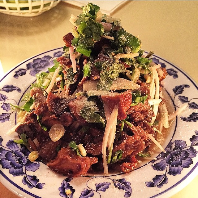 Yum Het: mushroom / lemongrass / rice powder