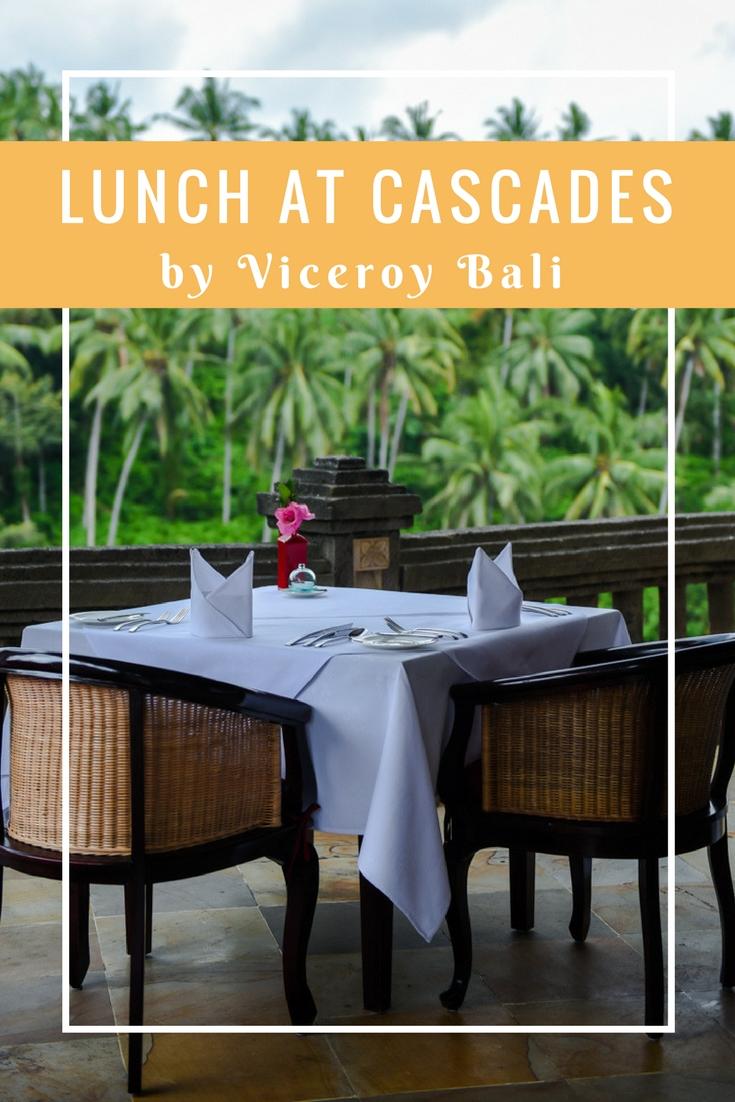 Lunch at Cascades Vicero on www.travelwithnanob.com