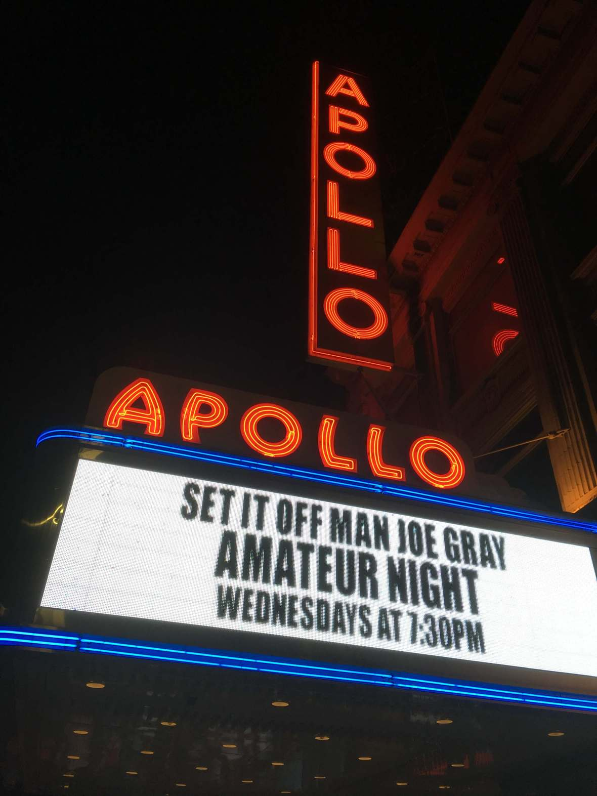 The Apollo Theater in Harlem, New York City
