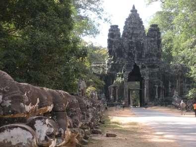 Minor temple and road at Angkor Wat