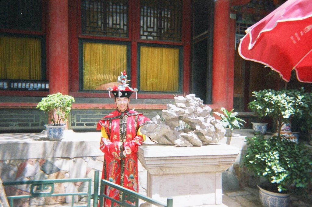 Dress up! One of the cool things to do in Beijing.