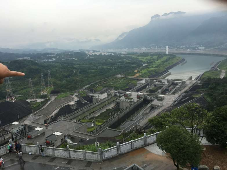 The Three Gorges Dam on the three day Yang