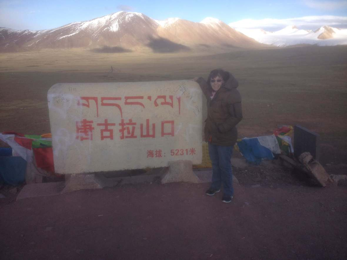 Arriving at the highest point in Tibet at 5,231 feet, the highest I've ever been without a plane
