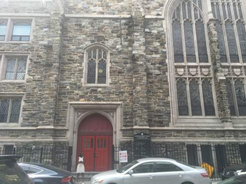 Abyssinian Baptist church in Harlem.