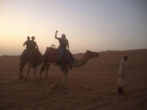 Caravanning in the desert in Dubai
