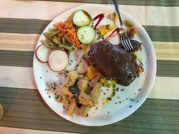 Vegetarian dishes in Las Terrazas, Cuba,