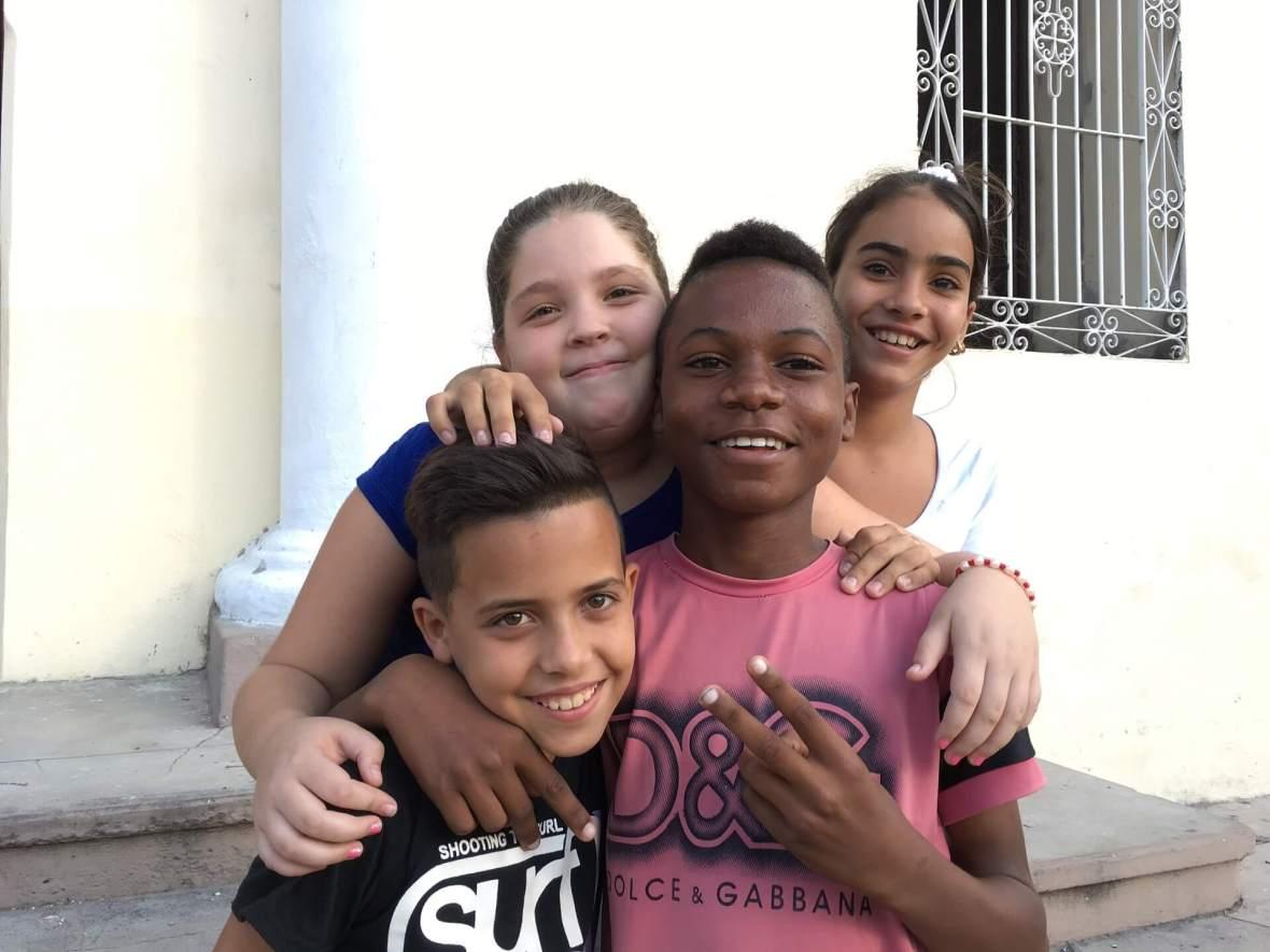 Children in Trinidad, Cuba