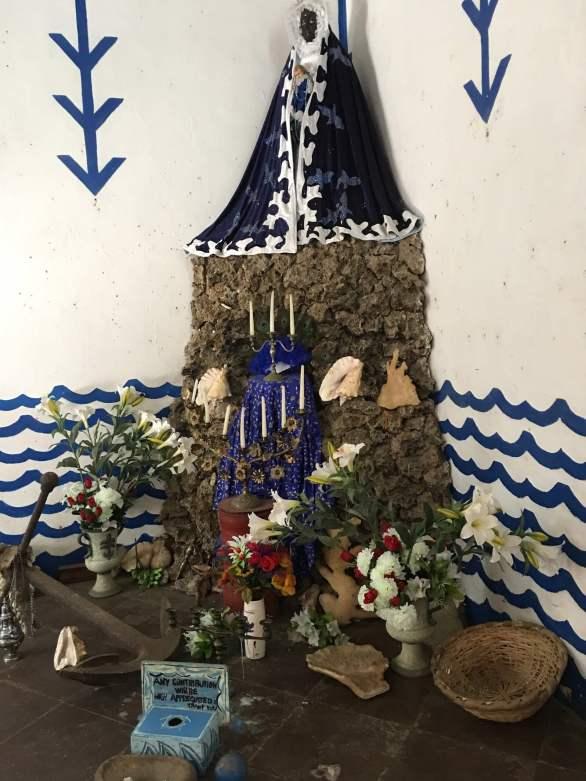 Santeria altar in Trinidad, Cuba