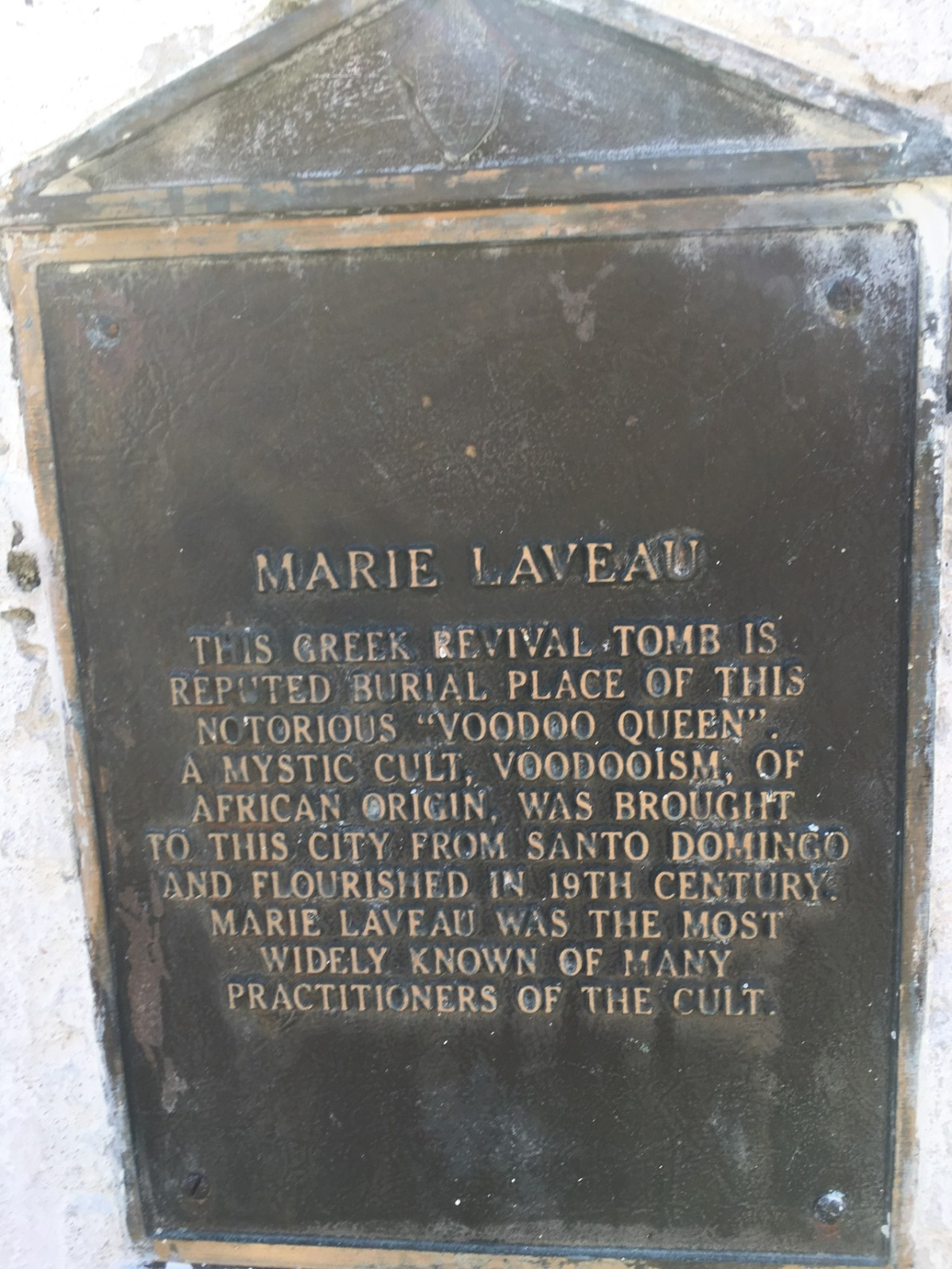 Marie LaVeau's tomb - One of the spooky things to do in New Orleans