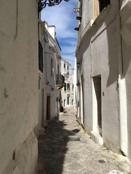 Ostuni streeta are a maze